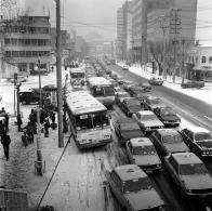 눈이 온 후 도로